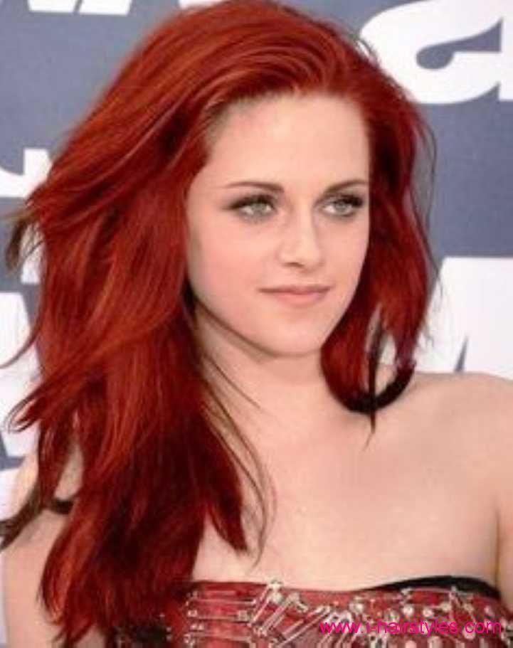 Kristen Stewart Frisuren Rote Haarfarbe #kristenstewart #hairstyles