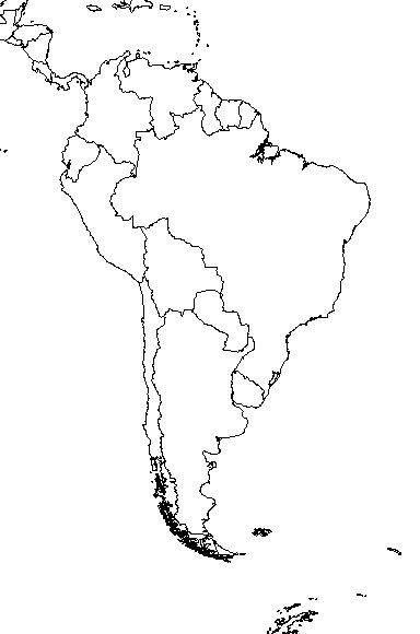 Mapa Mudo De America.Mapas Mudos Gratis Mapas Mudos De America Del Sur South