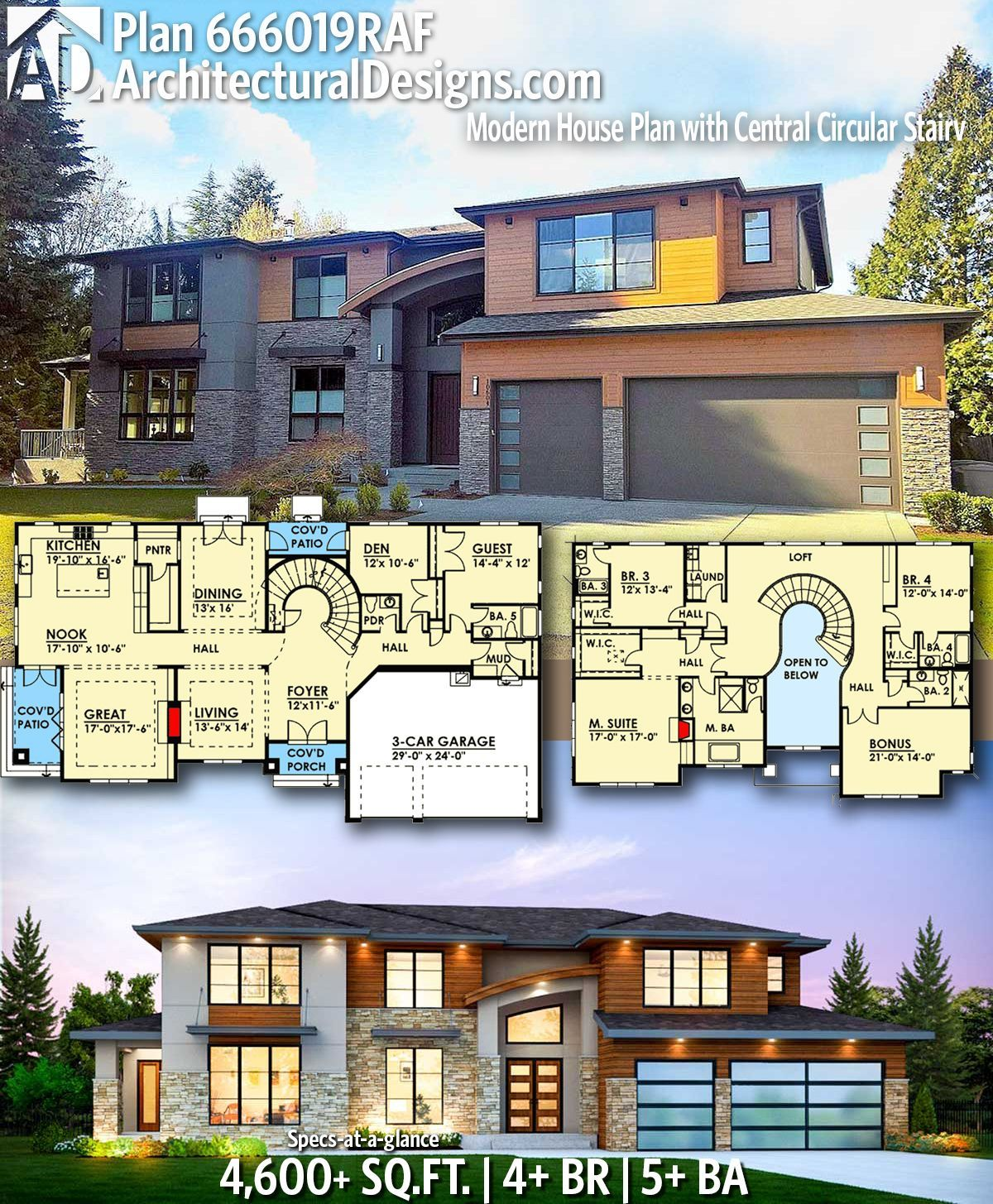 Architectural Designs Modern House Plan 666019RAF gives