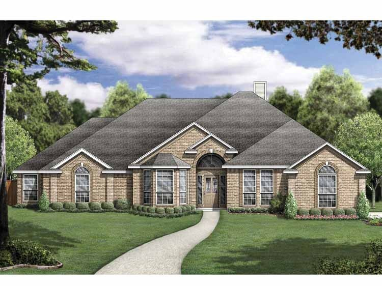 New american house plan with 2532 square feet and 5 for New american home