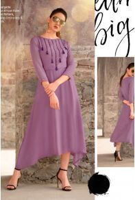 Bulk Party Designer Wear Faux Georgette Long Length Kurti Collection