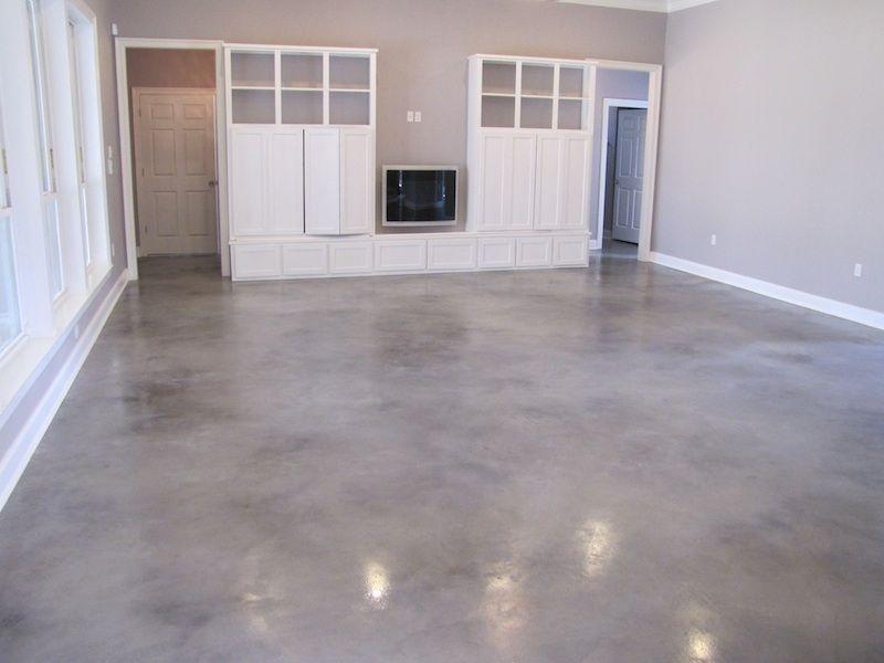Grey Stained Concrete Floors Sol En Beton Teinte Relooking De Sous Sol Renovation Maison