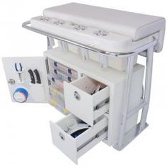 Leaning Post Storage Center Console Boat Ideas Tackle Organizer