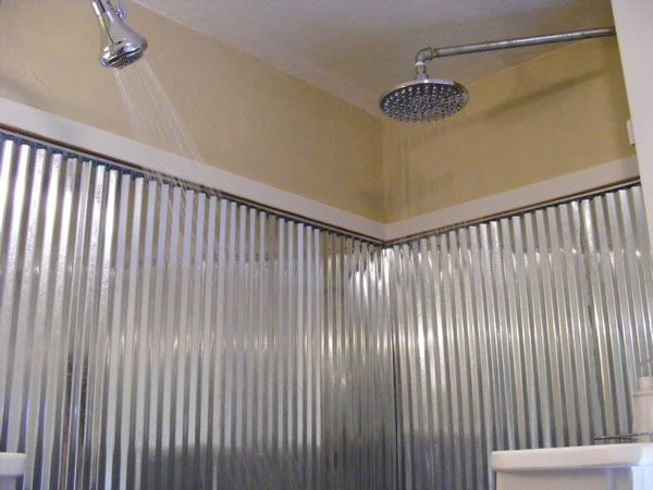 Tin Roof For Shower Walls From Cobblestone Cottage In