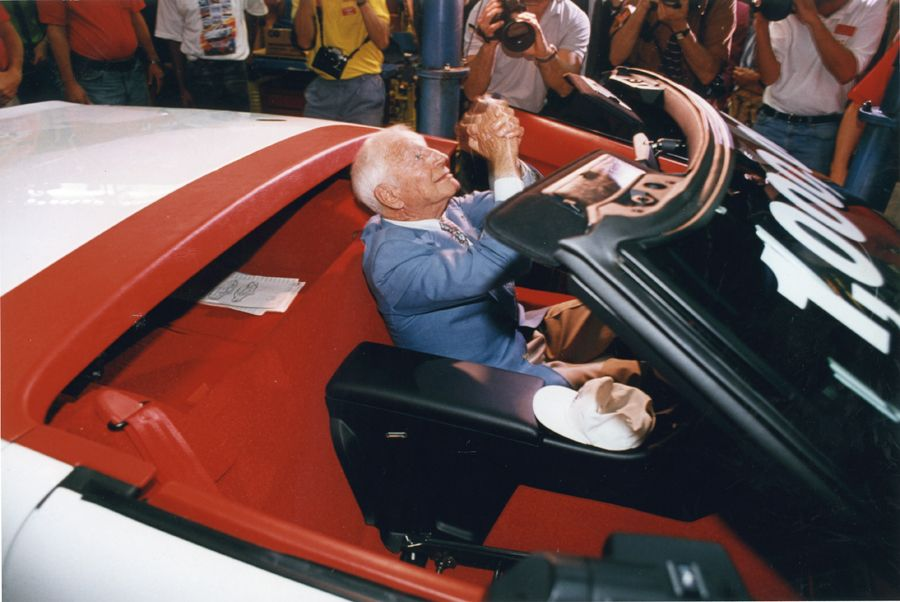 Zora and the 1992 One Millionth Corvette