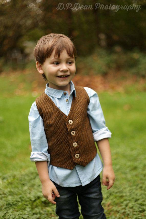 Boys yellow vest Toddler boy vest Infant vest Baby boy vest plaid vest boy wedding outfit Ring bearer outfit Page boy outfit Baby photo prop