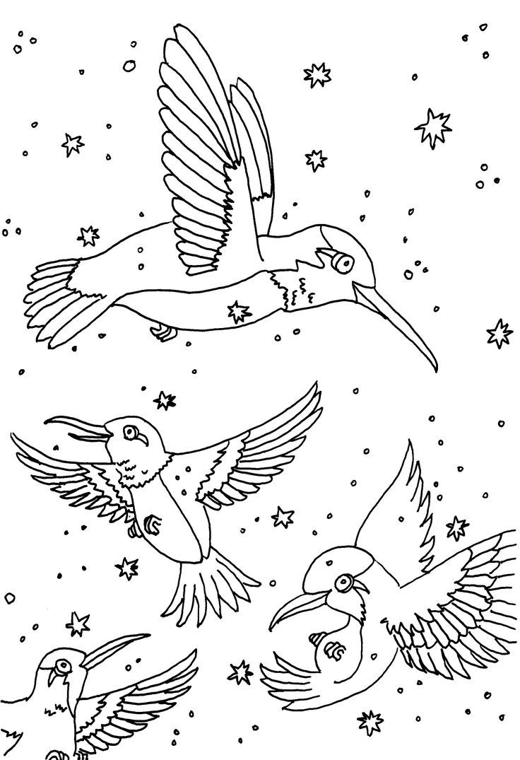 25+ Printable flying bird coloring pages info