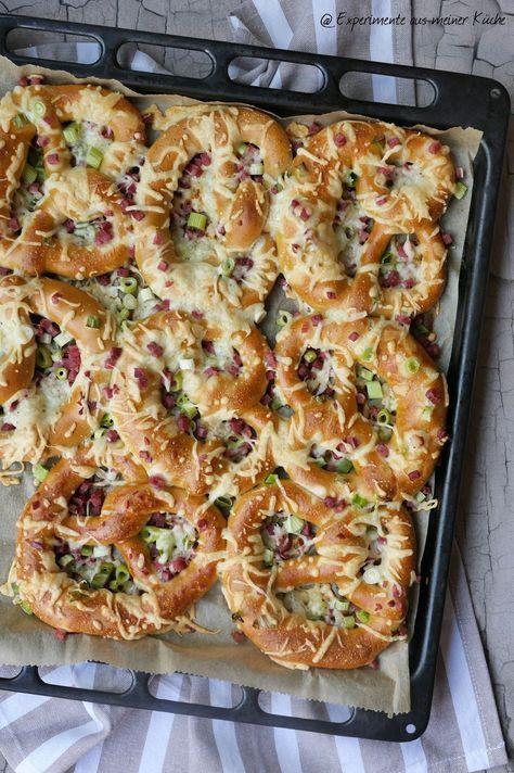 Flammkuchen-Brezeln {Partyrezepte für jede Gelegenheit} - Experimente aus meiner Küche