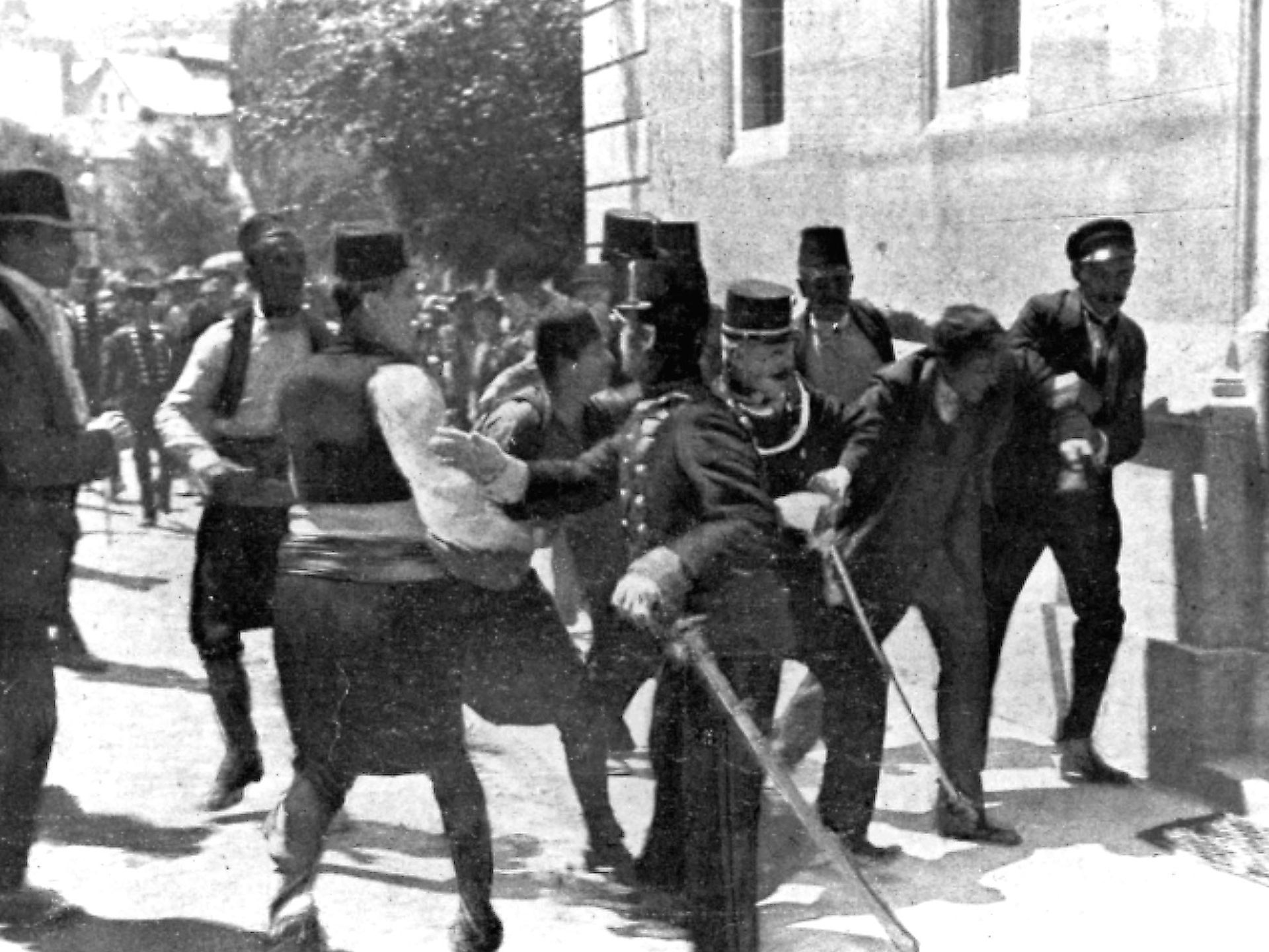 Bosnian Serb Gavrilo Princip Second Right Is Captured By