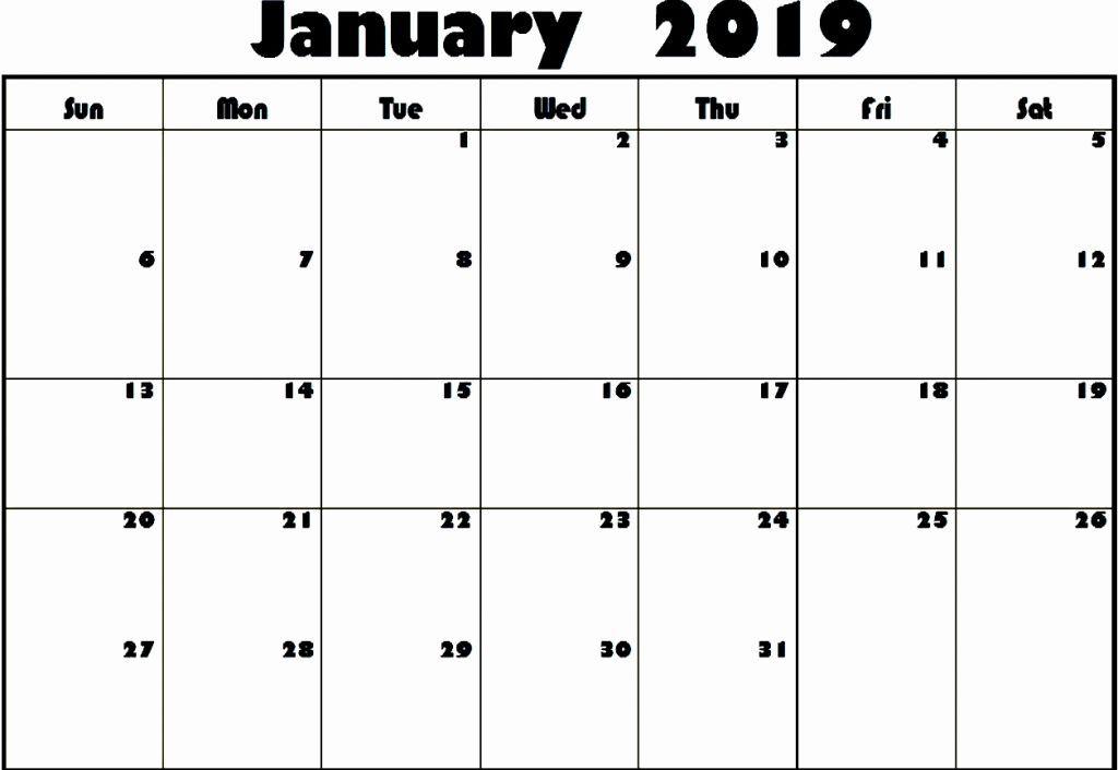 Editable January 2019 Calendar Word #January2019 #JanuaryCalendar