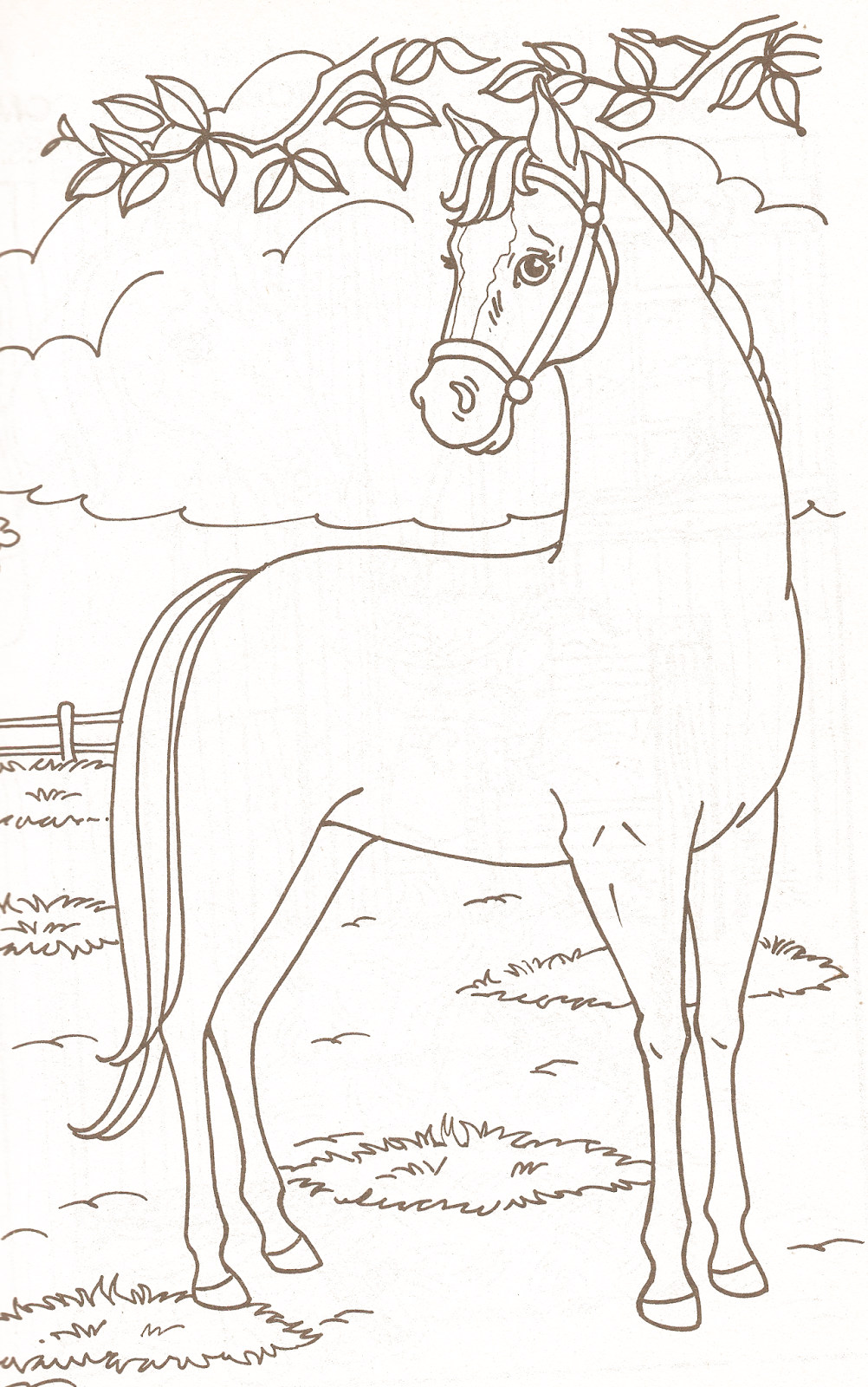 Miss Missy Paper Dolls Barbie Coloring Pages Part 1 Horses