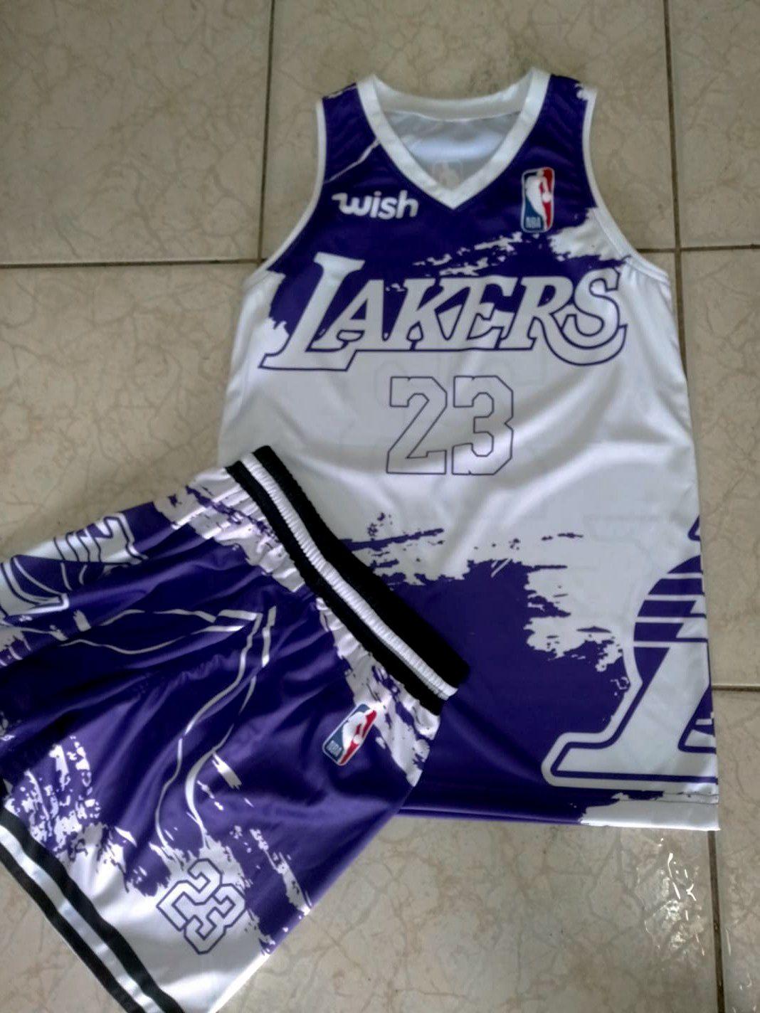2020 La Lakers Purple White Basketball Jersey Designs In 2020 Basketball Jersey Jersey Design Jersey
