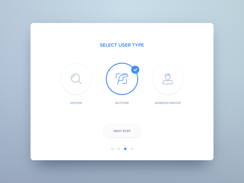 Select Page UI Inspiration — Muzli -Design Inspiration