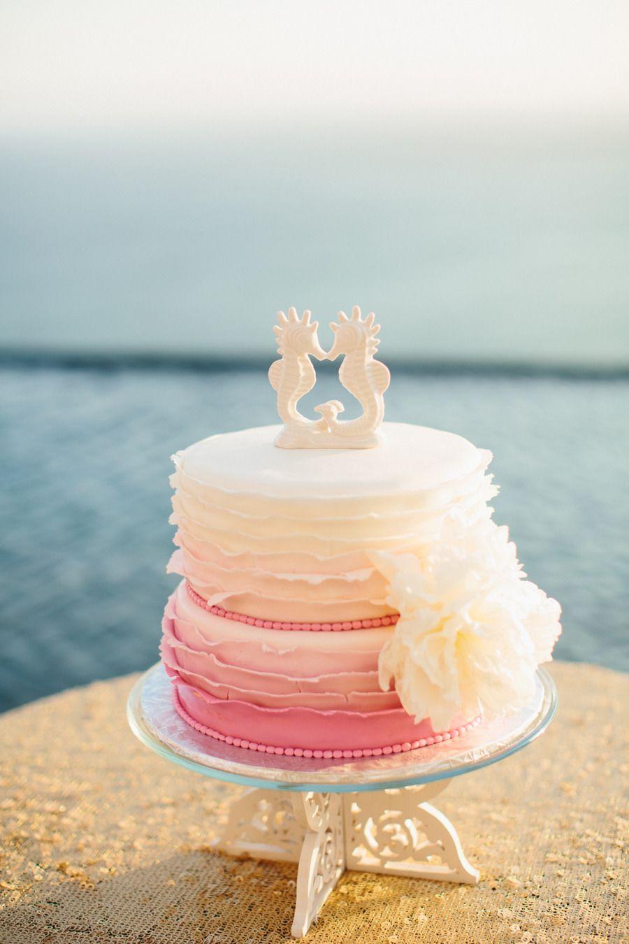 Tropical Cabo San Lucas Beach Wedding Beach Wedding Cake Toppers