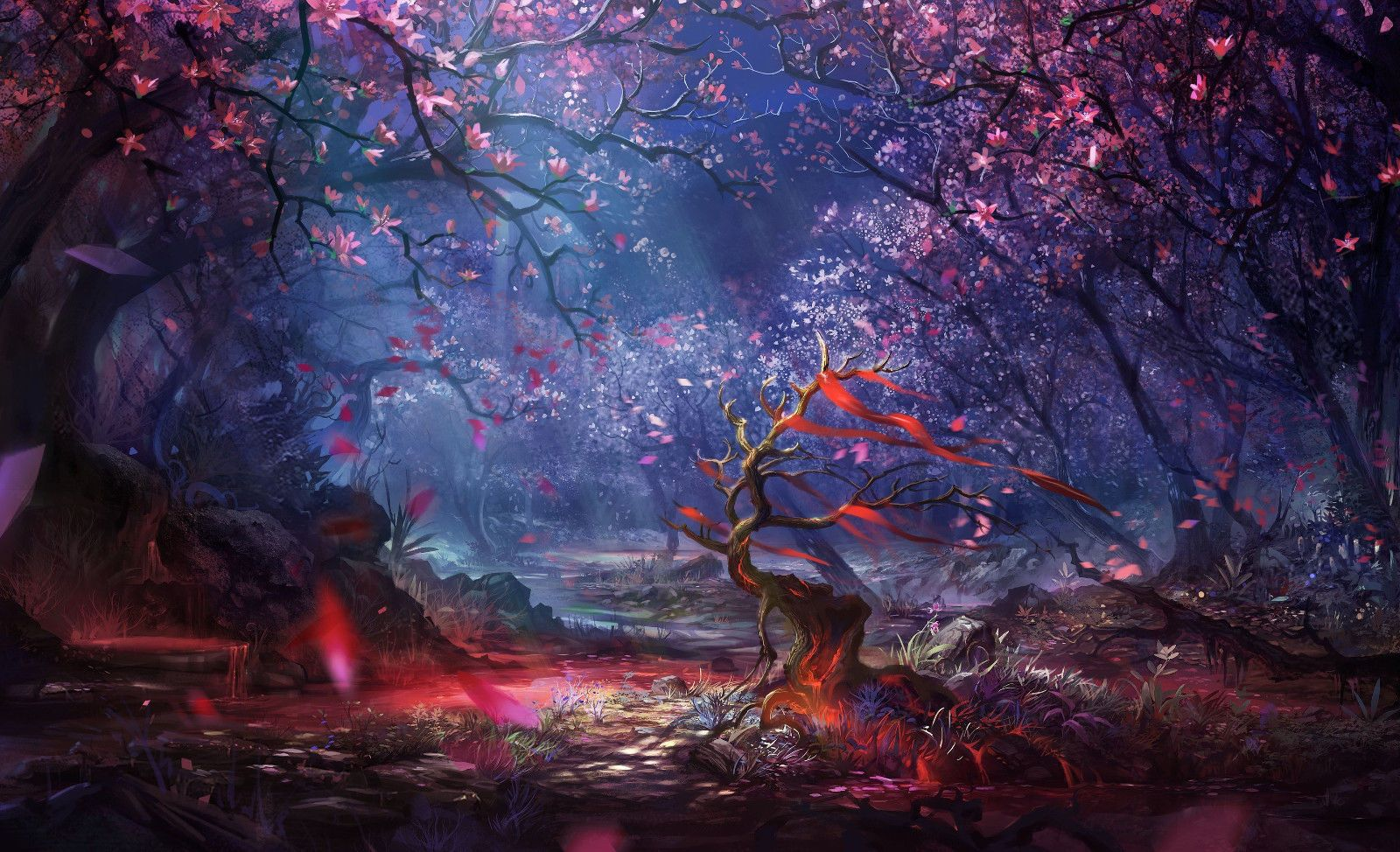 Framed Print Fairy Tale Fantasy Enchanted Forest Picture Disney Cartoon Art Landscape Wallpaper Forest Art Fantasy Forest