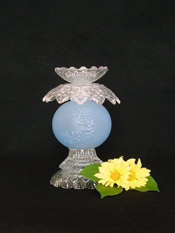 Garden art or candle holder made with by ReCreationsInGlass, $39.00