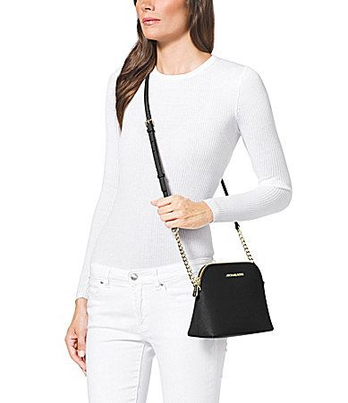 26d7d2cbdf49ff MICHAEL Michael Kors Cindy Saffiano Large Dome CrossBody Bag #Dillards