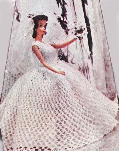 18 Doll Crochet Patterns Free Bridal Gown Wedding Dress Pattern 8 10 12 19 In Dolls Barbie