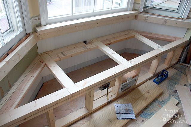 How to's : Detailed tutorial, includes dry wall front for window seat.