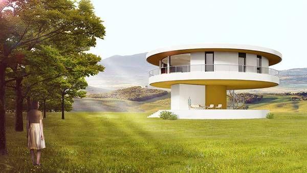 La primera casa dom tica giratoria de europa est en espa a su fin es ahorrar energ a - Casas ecologicas en espana ...