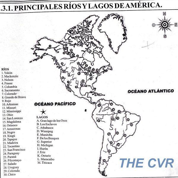 Rio Colorado Mapa Fisico.Principales Rios De America Sketches