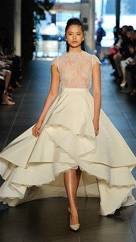 Most daring wedding dresses from Bridal Fashion Week: Rivini ...