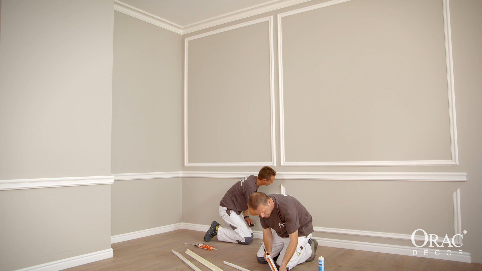Orac Decor Installation Video Panel Mouldings B Orac Decor Wall Molding Moldings And Trim