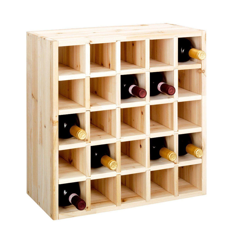 syst me d 39 tag re vin cube 52 en bois massif nature module 3 casier s par pour 25. Black Bedroom Furniture Sets. Home Design Ideas