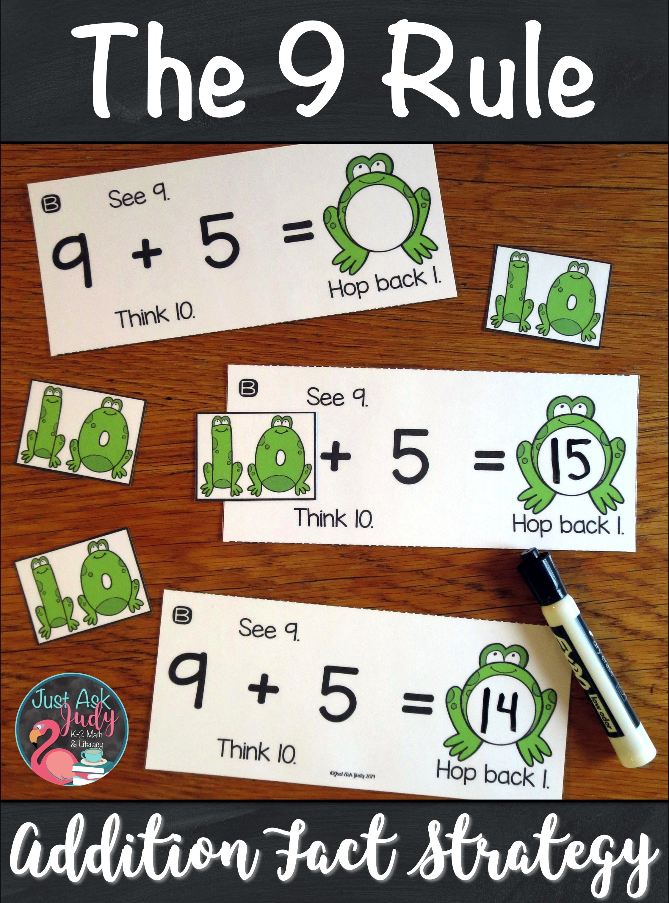Applying The 9 Rule Addition Fact Strategies Addition Facts Rules For Kids Rules for adding and subtracting