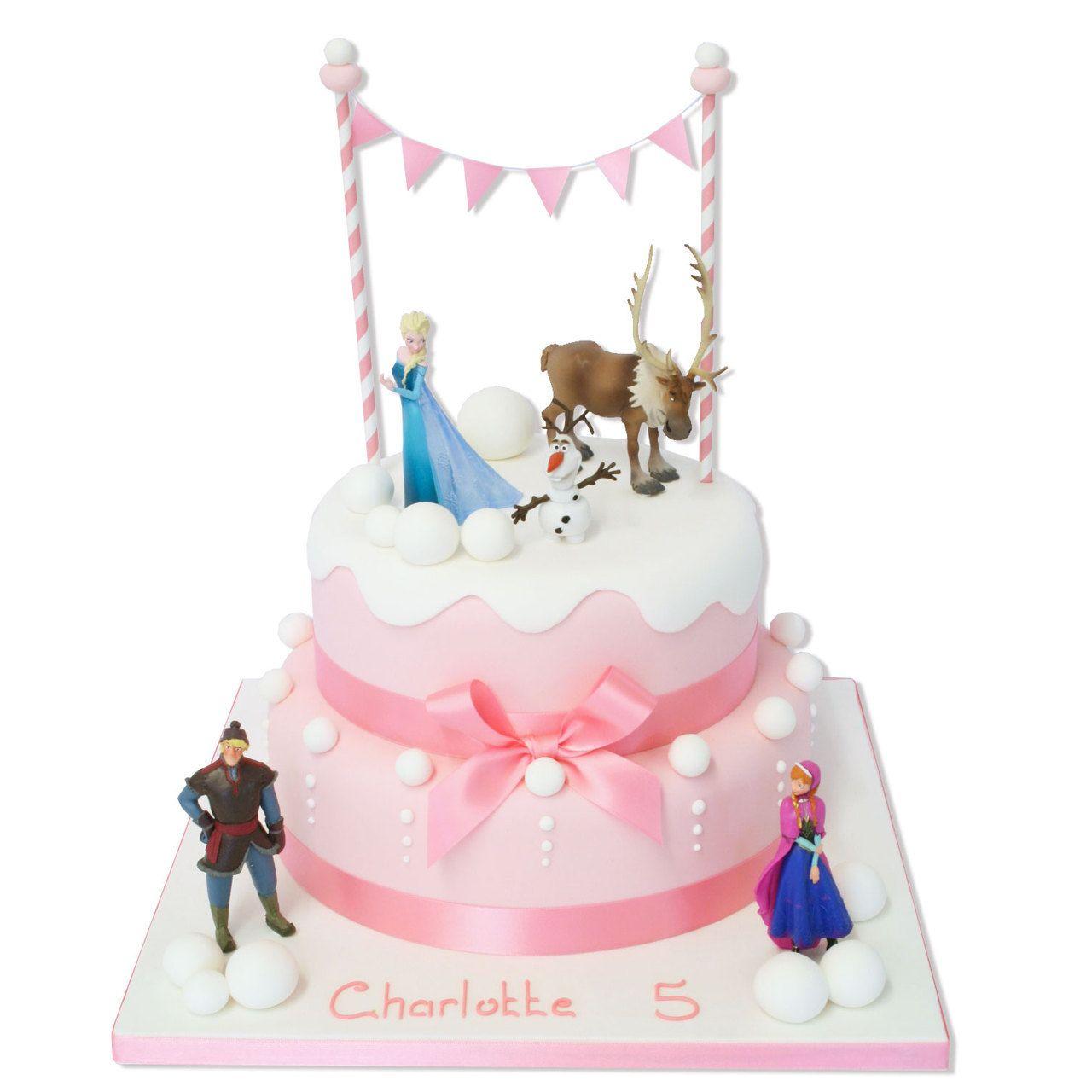 Bad ka design pretty pink frozen cake  happy birthday  pinterest  cake d