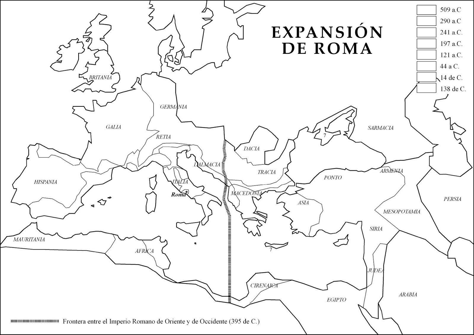 Mapa Imperio Romano Mudo.Atlas Historico Imperio Romano Roma Antigua Y Romanos