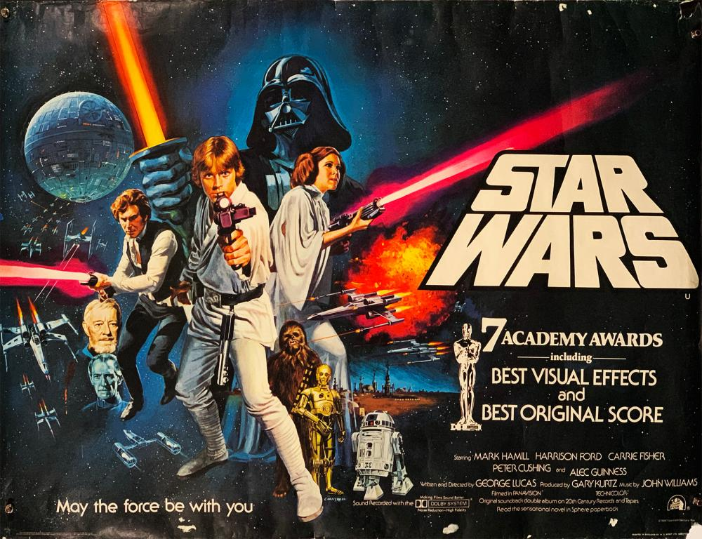 Star Wars 1977 Epic Space Opera Film Series Poster Galaxy Trilogy Photo Quote