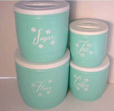 Turquoise Canisters Kitchen | Vintage Turquoise Canisters Vintage Kitchen Vintage Kitchenware