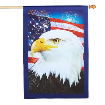 Hang Up Red White And Blue Style With Our Decorative Yard Flag Featuring A Bald Eagle Old Glory And Colorful Yard Flags Christmas Tree Shop Furniture Gifts