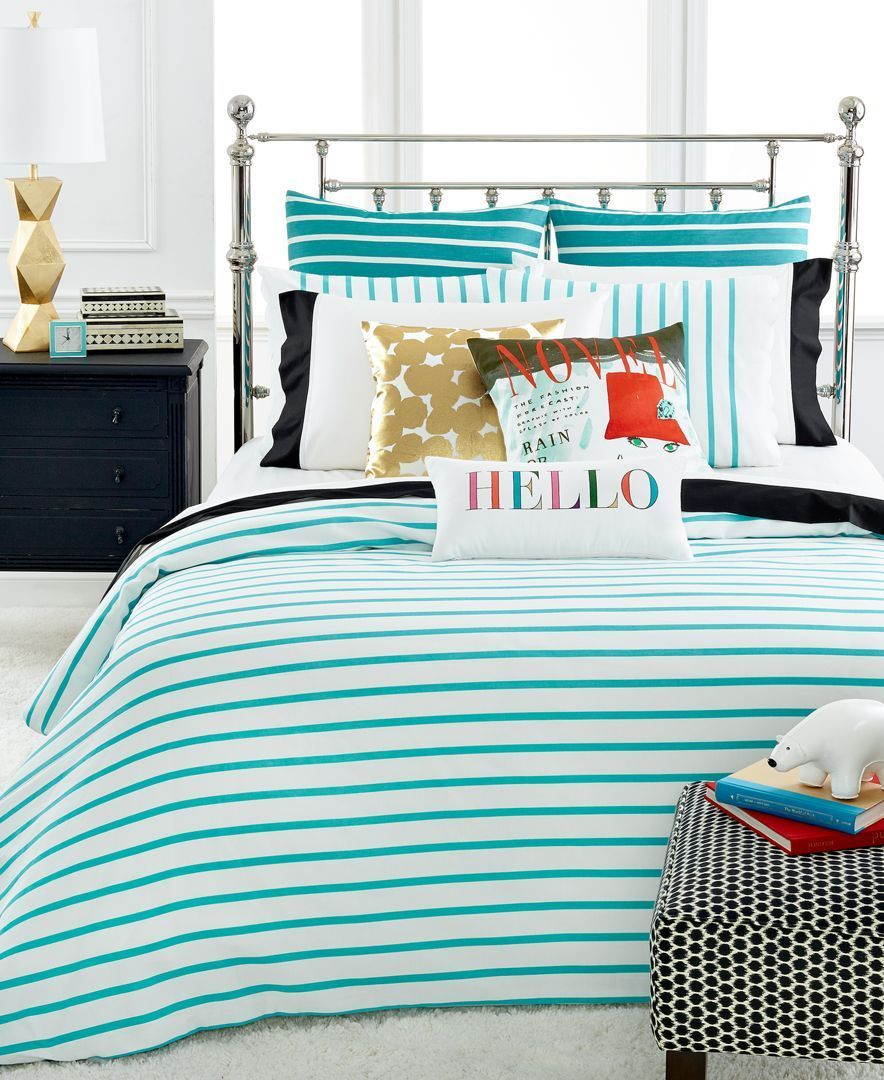 Kate Spade Bedding Kate Spade New York Harbour Stripe Turquoise King Comforter Set