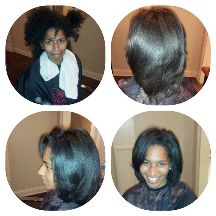 Naturual no relaxer....blowdry & silk