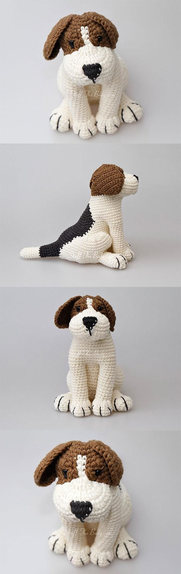 Azor the beagle puppy amigurumi pattern by StuffTheBody   Gehäkelte ...