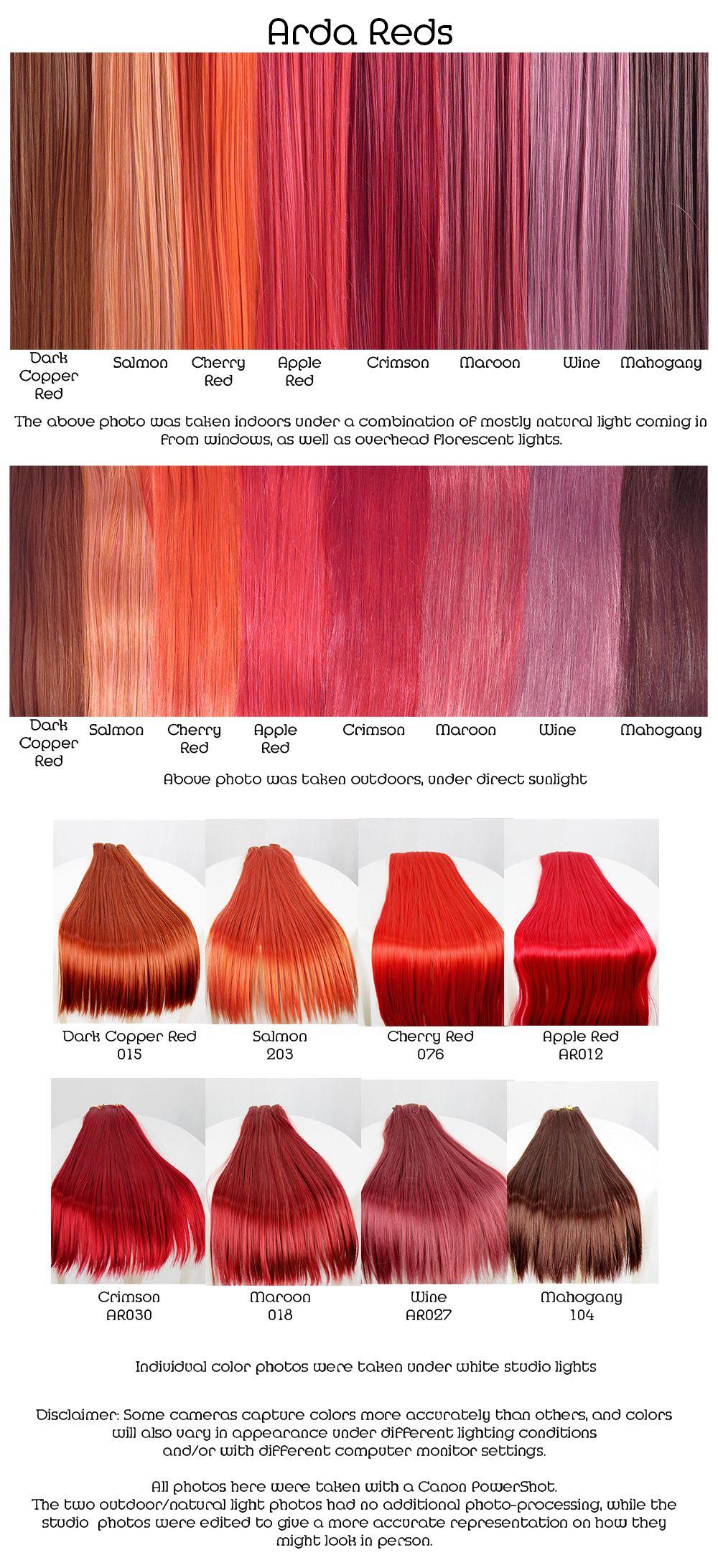 Arda reds wig fiber color pallette kapsels pinterest hair