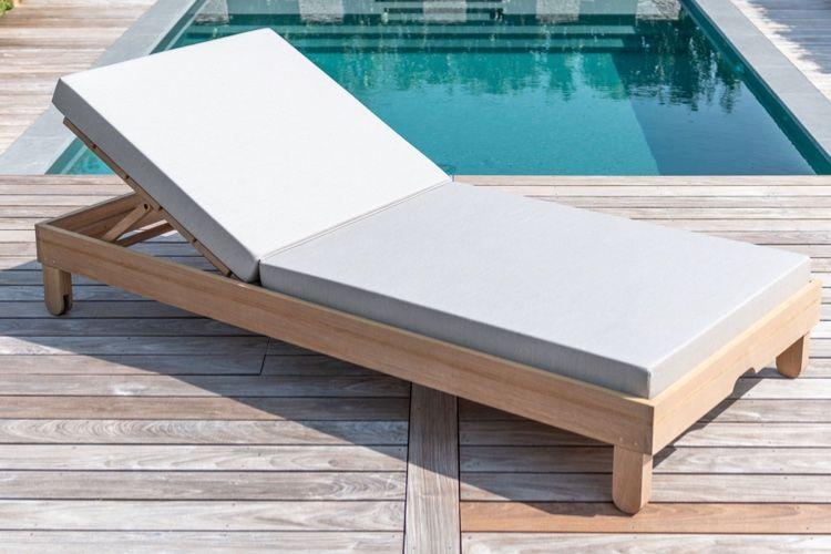 Bain De Soleil Xl Transat Avec Coussin Epais Bain De Soleil Lit De Jardin Mobilier Jardin