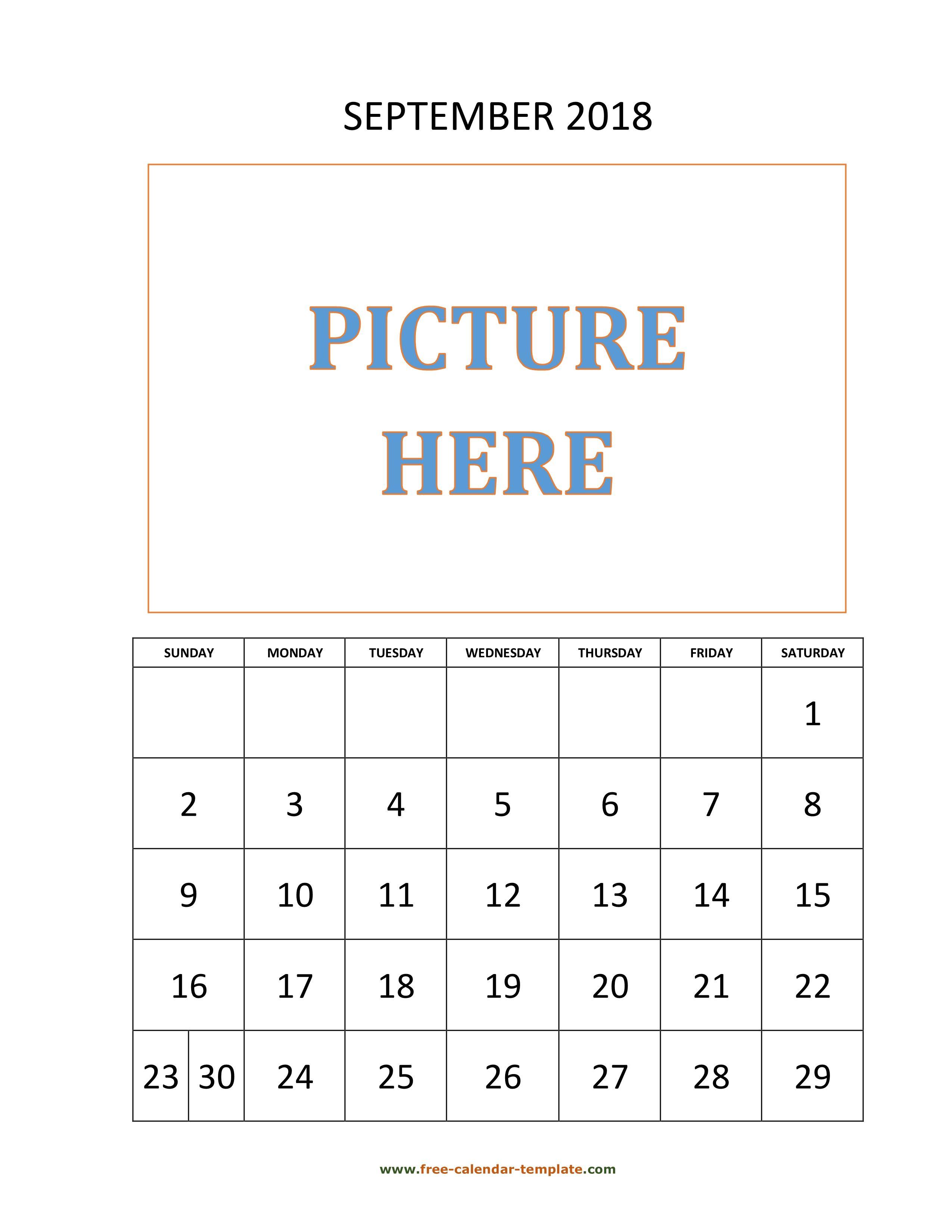 September Calendar Vertical