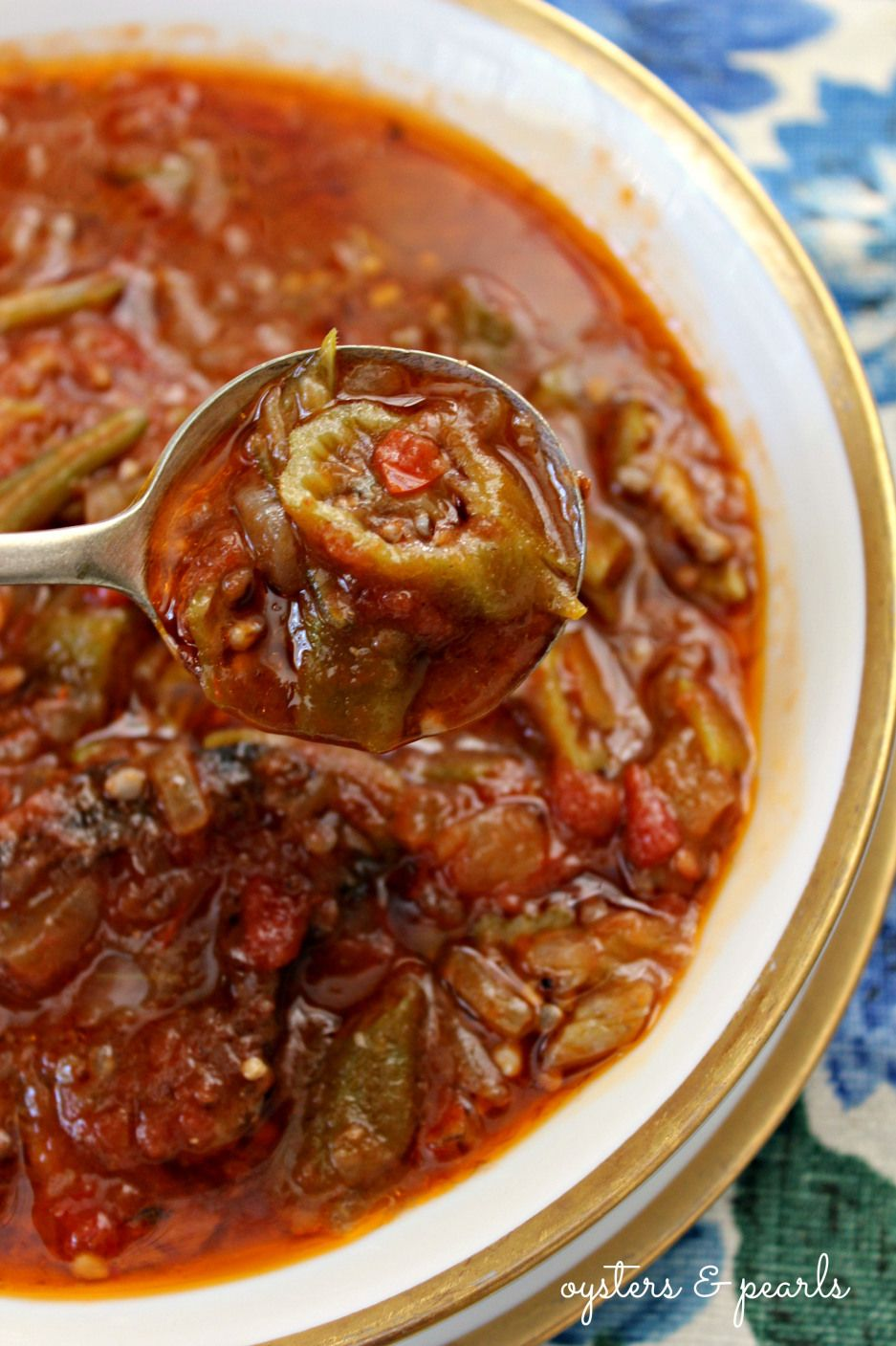Charleston Okra Soup Recipe | Oysters & Pearls