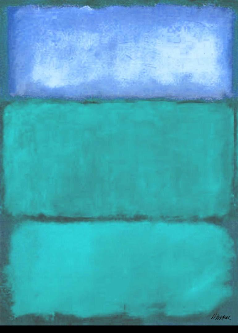 Saatchi Art Artist Barry Sack Painting Turquoise Blue