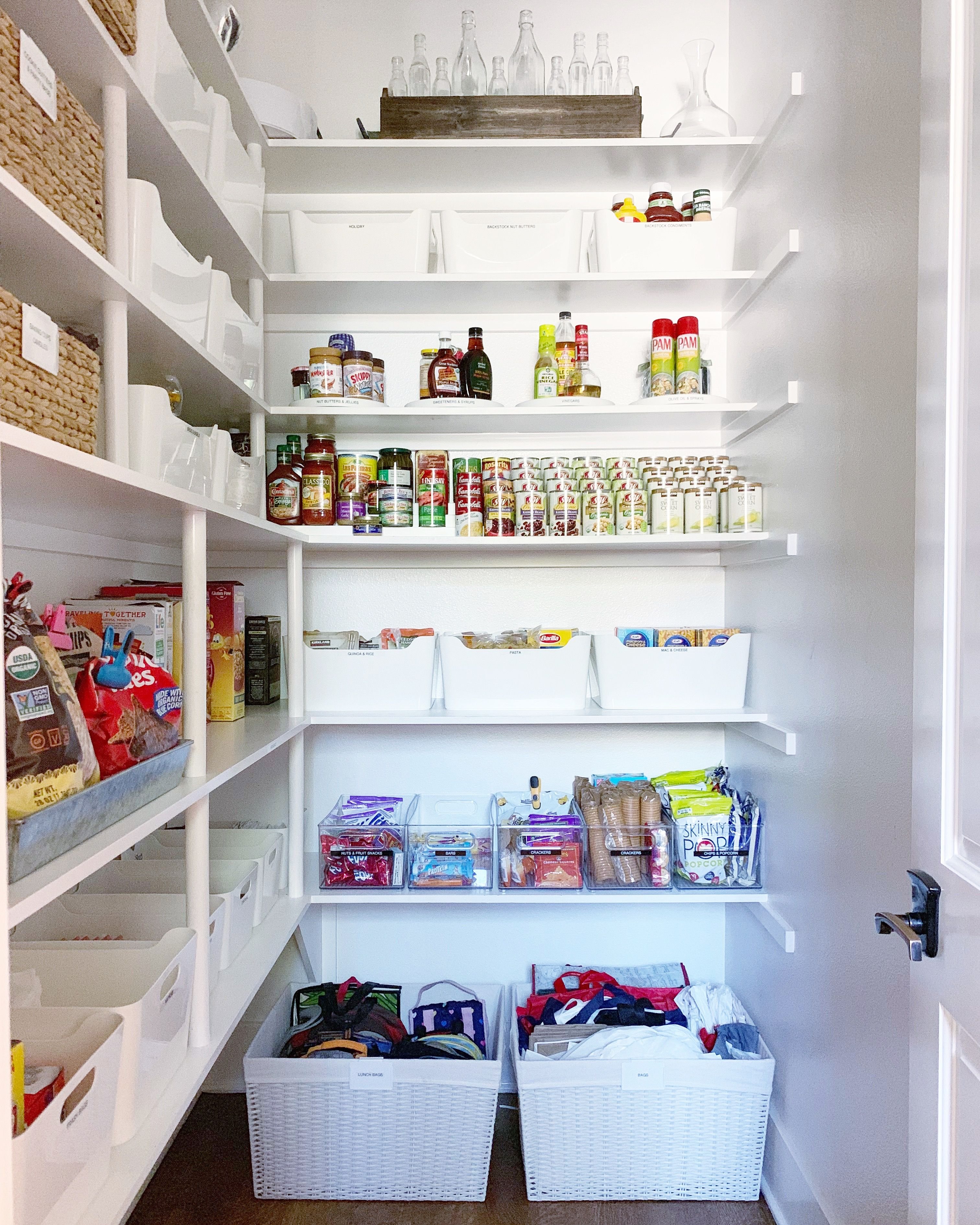 Simply Done Walk In Pantry Refresh Simply Organized Walk In Pantry Organizing Your Home Kitchen Organization