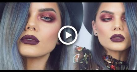 Photo of Burgundy Autumn look w. Huda Beauty Rose Gold Palette | Linda Hallberg Makeup Tutorials