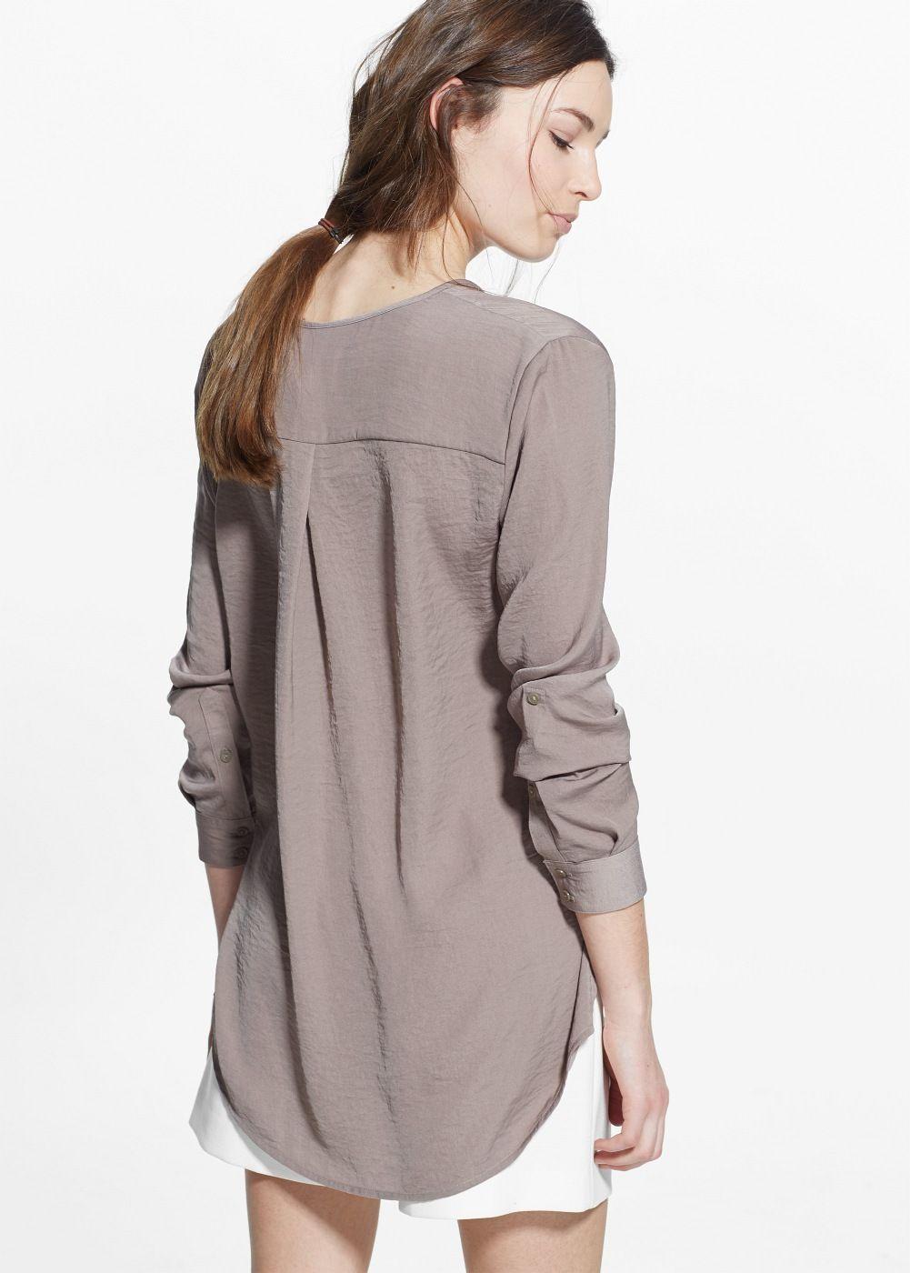 chemise longue fluide femme chemise longue chemise et. Black Bedroom Furniture Sets. Home Design Ideas
