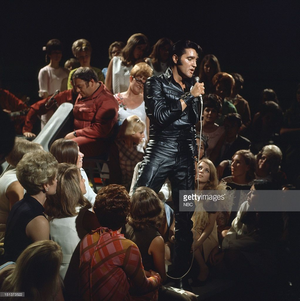 Elvis Presley during his '68 Comeback Special on NBC --