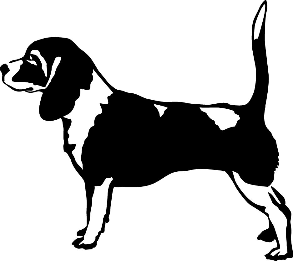 Beagle Profile Wall Decal