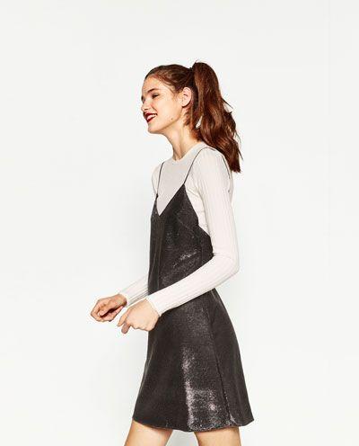 ストラップ付きショートドレス-ドレス ワンピース-レディ-ス | ZARA 日本