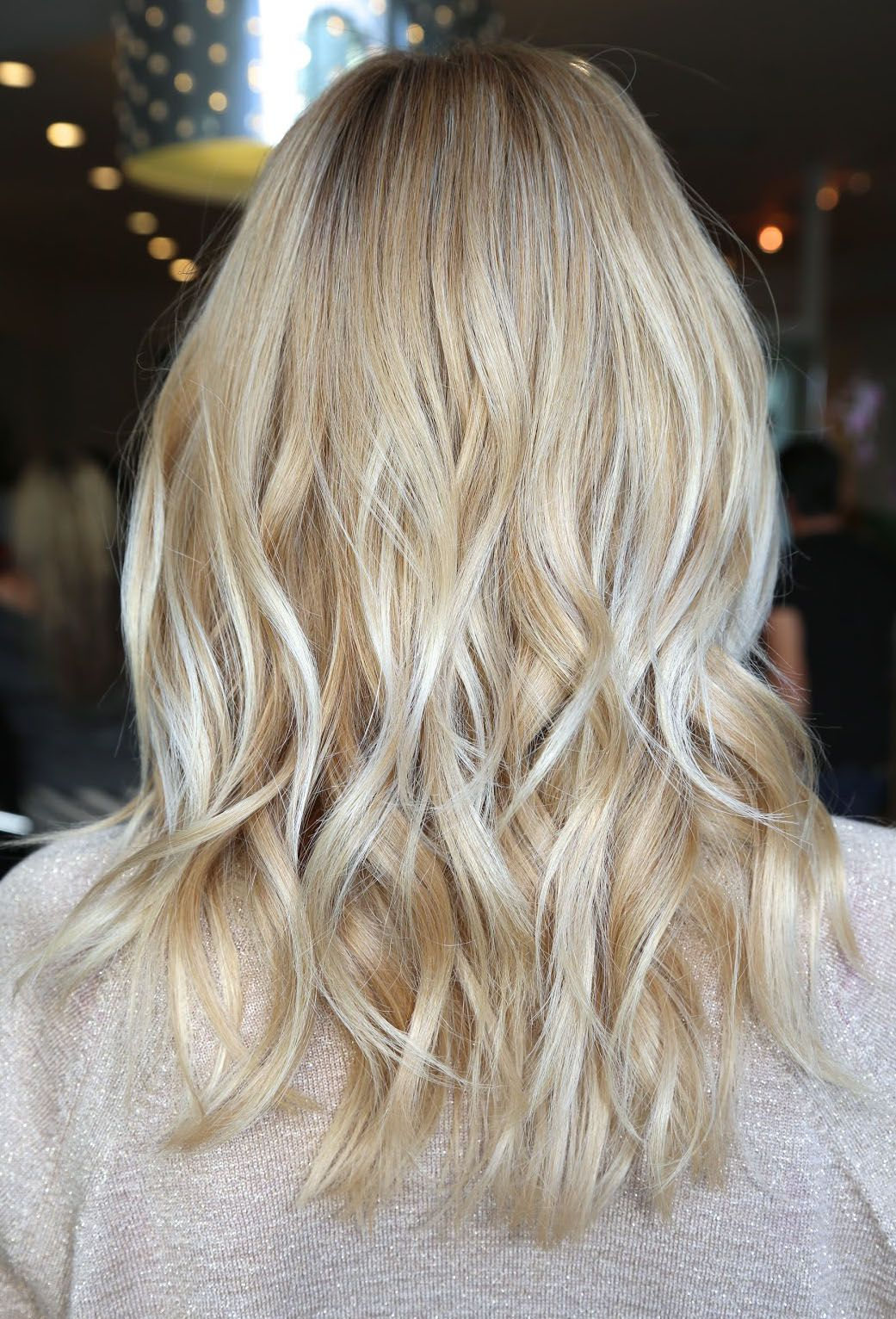 Bright blonde with platinum highlites Great for summer  Beach