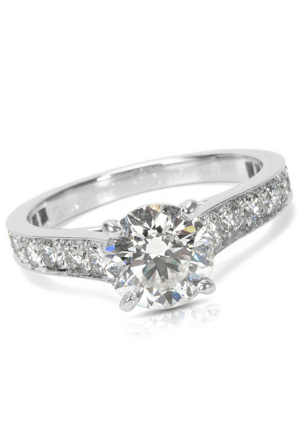 fa3614ab956df4 Cartier Diamond Engagement Ring in Platinum